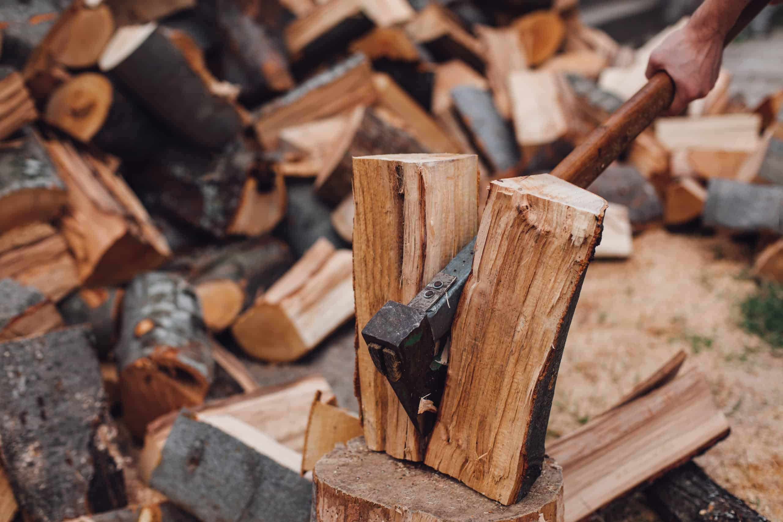 How to Split Firewood and Logs with an Axe and More