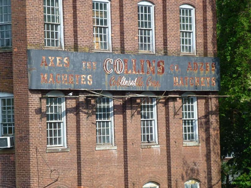 Collins company factory sign